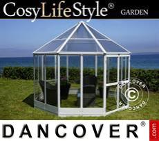 Garden gazebo 8.88m², 2.98x2.98x2.78m, White