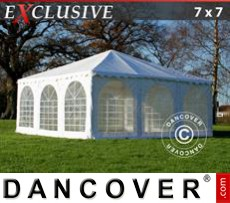 Garden gazebo Exclusive 7x7 m PVC, White