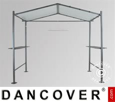 Garden gazebo, 2,65x1,59m, Dark Grey