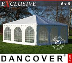 Garden gazebo Exclusive 6x6 m PVC, White