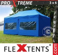 Pop up canopy Xtreme 3x6 m Blue, incl. 6 sidewalls