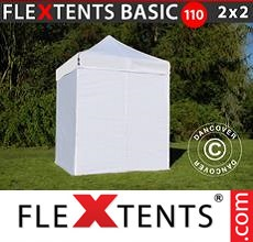 Pop up canopy Basic 110, 2x2 m White, incl. 4 sidewalls