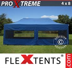 Pop up canopy Xtreme 4x8 m Blue, incl. 6 sidewalls