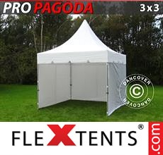 Pop up canopy PRO Peak Pagoda 3x3 m White, incl. 4 sidewalls