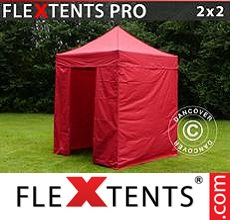 Pop up canopy PRO 2x2 m Red, incl. 4 sidewalls