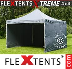 Pop up canopy Xtreme 4x4 m Grey, incl. 4 sidewalls
