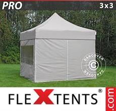 Pop up canopy PRO 3x3 m Latte, incl. 4 sidewalls