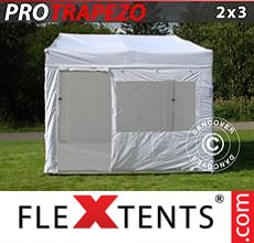 Pop up canopy PRO Trapezo 2x3m White, incl. 4 sidewalls