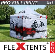 Pop up canopy PRO with full digital print, 3x3 m, incl. 4 sidewalls