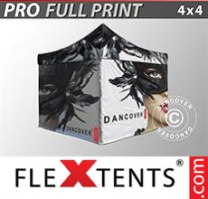 Pop up canopy PRO with full digital print, 4x4 m, incl. 4 sidewalls