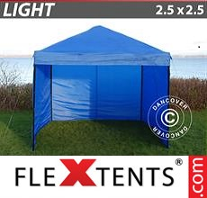 Pop up canopy Light 2.5x2.5 m Blue, incl. 4 sidewalls