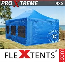 Pop up canopy Xtreme 4x6 m Blue, incl. 8 sidewalls