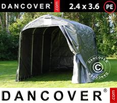 Portable Garage PRO 2.4x3.6x2.34 m PE, Grey