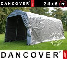 Portable Garage PRO 2.4x6x2.34 m PE, Grey