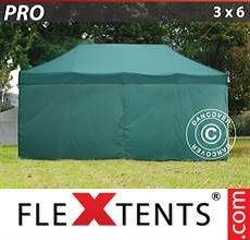 Racing tent PRO 3x6 m Green, incl. 6 sidewalls