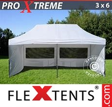Racing tent Xtreme 3x6 m White, incl. 6 sidewalls