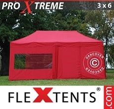 Racing tent Xtreme 3x6 m Red, incl. 6 sidewalls