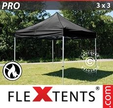 Racing tent PRO 3x3 m Black, Flame retardant