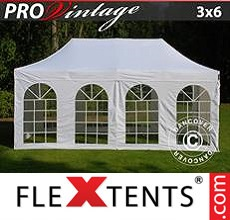 Racing tent PRO Vintage Style 3x6 m White, incl. 6 sidewalls
