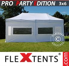 Racing tent PRO 3x6 m White, incl. 6 sidewalls
