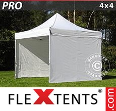 Racing tent PRO 4x4 m White, incl. 4 sidewalls