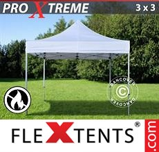Racing tent Xtreme 3x3 m White, Flame retardant