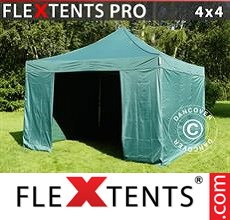 Racing tent FleXtents PRO 4x4 m Green, incl. 4 sidewalls