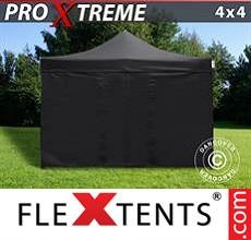 Racing tent Xtreme 4x4 m Black, incl. 4 sidewalls