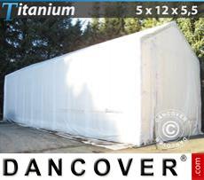 Shelter Titanium 5x12x4.5x5.5 m, White