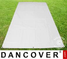 Tarpaulin/Ground cover 3.7x8.6 m PVC, White