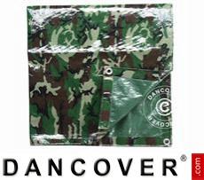Camouflage tarpaulin Woodland, 5x6m