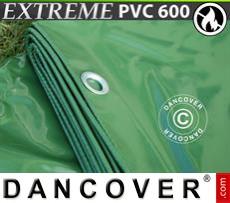 Tarpaulin 6x12 m PVC 600 g/m² Green, Flame retardant
