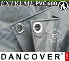 Tarpaulin 10x12 m PVC 600 g/m² Grey, Flame retardant