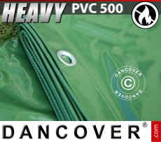Tarpaulin 6x8 m PVC 500 g/m² Green, Flame retardant