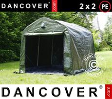 Tents PRO 2x2x2 m PE, with ground cover, Green grey