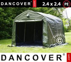 Tents PRO 2.4x2.4x2 m PE, with ground cover, Green/Grey