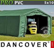 Tents PRO 5x10x2x2.9 m, PVC, Green