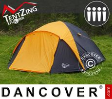 Camping tents,  TentZing® Igloo, 4 persons, Orange/Dark Grey