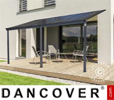 Carport Patio cover Malibu, 3x4.34m, Dark Grey