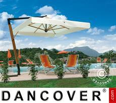 Cantilever parasol Palladio Braccio with valance, 3.5x3.5 m, Ecru