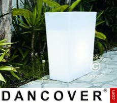 Planter Diny, 61x31x70 cm, White