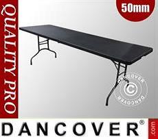 Folding Table 242x76x74cm, Black (10 pcs.)