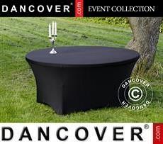 Stretch table cover, Ø152x74cm, Black