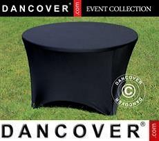 Stretch table cover, Ø116x74cm, Black