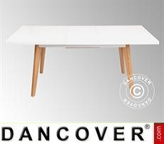 Dining table w/ extension, Roma, 140/180x90x75 cm, White/Oak