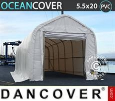 Boat shelter Oceancover 5.5x20x4.1x5.3 m PVC