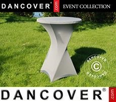 Stretch table cover, Ø80x110 cm, Grey