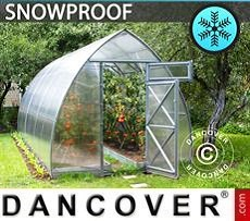 Greenhouse Polycarbonate, Arrow 15,6 m², 2,6x6 m, Silver