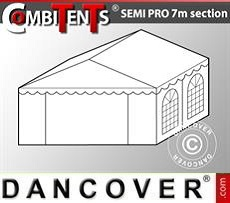 4m end section extension for Semi PRO CombiTent, 7x4m, PVC, White