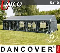 Party Marquee   UNICO 5x10 m, Dark Grey